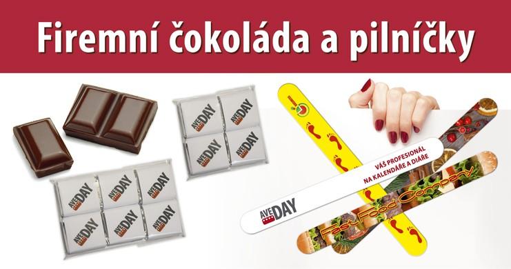 firemní čokoláda a pilníčky