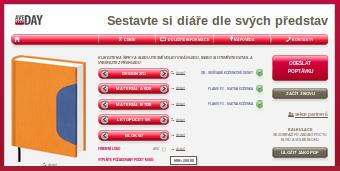 online konfigurátor diářů